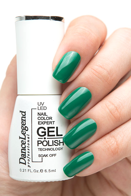 Лак для ногтей Dance Legend Gel Polish 033 (Цвет 033 Emerald variant_hex_name 00784B)