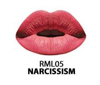 Жидкая помада Kiss Lip Lacquer RML05 (Цвет RML05 Narcissism variant_hex_name D45769)