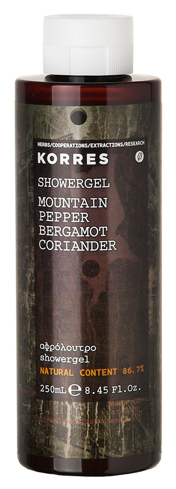 Гель для душа Korres Mountain Pepper Bergamot Coriander Mens Shower Gel (Объем 250 мл)