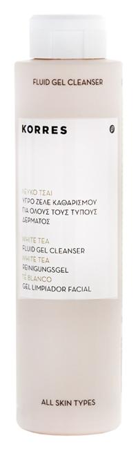 Гель Korres White Tea Facial Fluid Gel Cleanser (Объем 200 мл)
