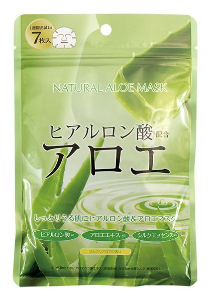 Тканевая маска Japan Gals Набор масок с экстрактом алоэ 7 шт.