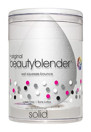 Спонжи и аппликаторы beautyblender Набор спонж beautyblender Pure + Мини-мыло для очистки Solid (Цвет Pure variant_hex_name EEEEED)