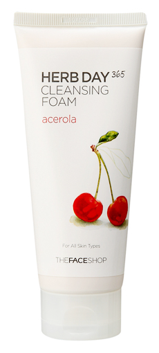 Пенка The Face Shop Herb Day 365 Cleansing Foam Acerola (Объем 170 мл)