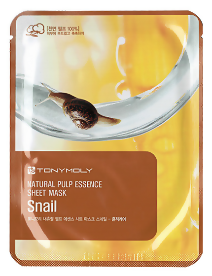 Тканевая маска Tony Moly Essence Sheet Mask Snail Skin Damage Care (Объем 20 мл)