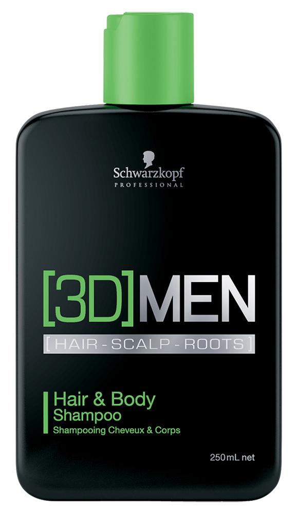 Шампунь Bonacure [3D]MEN Hair  Body Shampoo (Объем 250 мл)