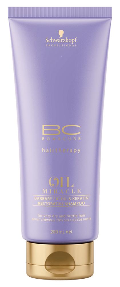 Шампунь Bonacure Oil Miracle Barbary Fig Keratin Restorative Shampoo (Объем 200 мл)