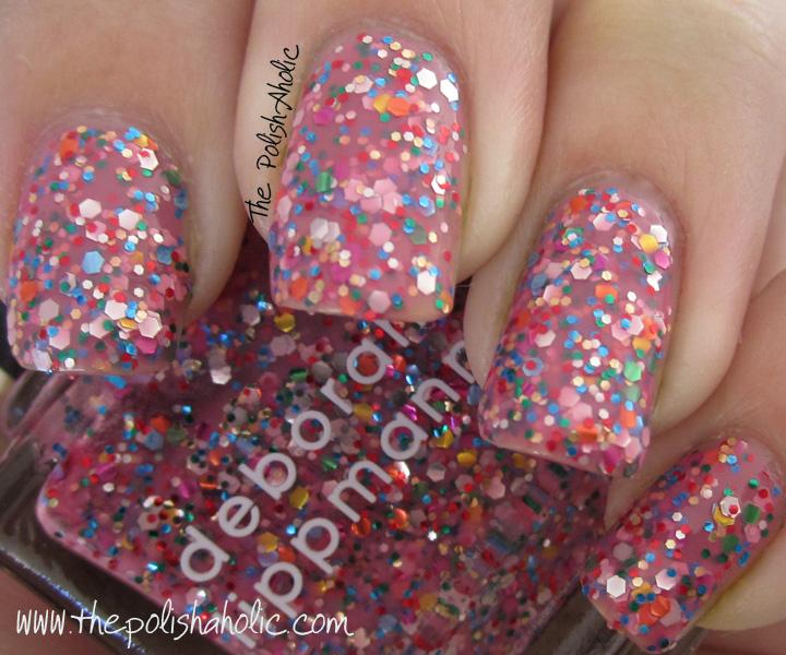 Лаки для ногтей с эффектами Deborah Lippmann Glitter Nail Polish Candy Shop (Цвет Candy Shop variant_hex_name F8A3BA)