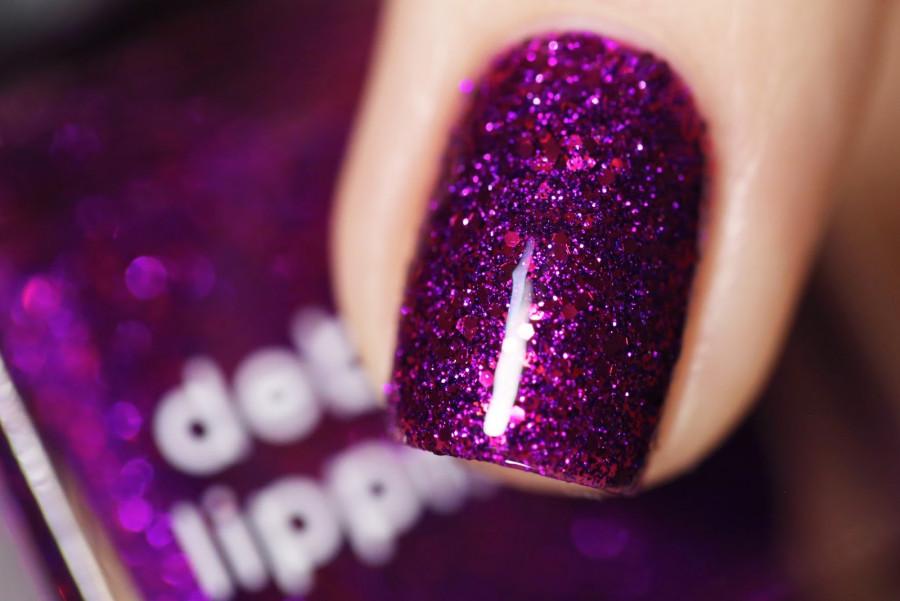 Лаки для ногтей с эффектами Deborah Lippmann Glitter Nail Polish Flash Dance (Цвет Flash Dance variant_hex_name 64249F)