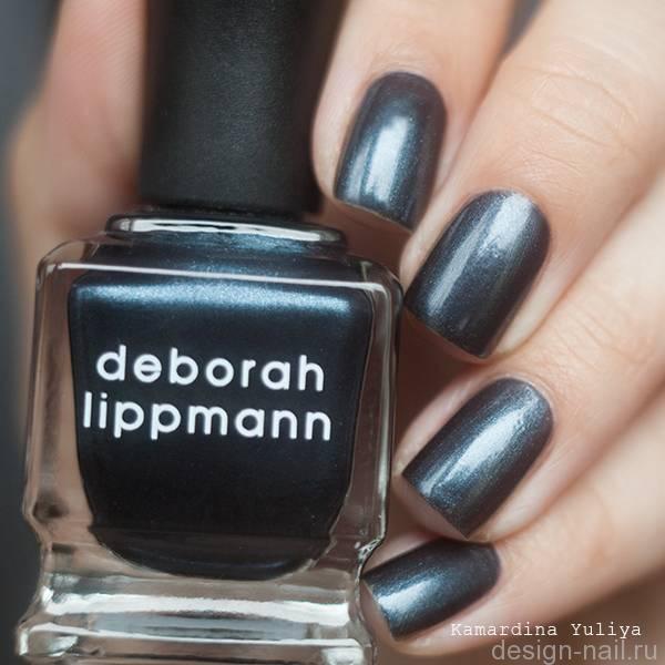 Лак для ногтей Deborah Lippmann Shimmer Nail Polish Hit me With Your Best Shot (Цвет Hit me With Your Best Shot variant_hex_name 4A657A)