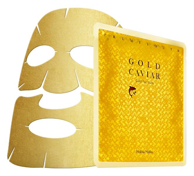 Тканевая маска Holika Holika Prime Youth Gold Caviar Gold Foil Mask (Объем 25 мл)