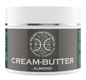 Крем для тела Valentina Kostina Крем-баттер миндальный Aomond Cream Butter Organic Cosmetic (Объем 200 мл)