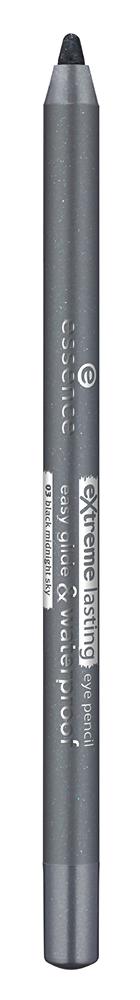 Карандаш для глаз essence Extreme Lasting Eye Pencil 03 (Цвет 03 Black Midnight Sky variant_hex_name 6A6D71)