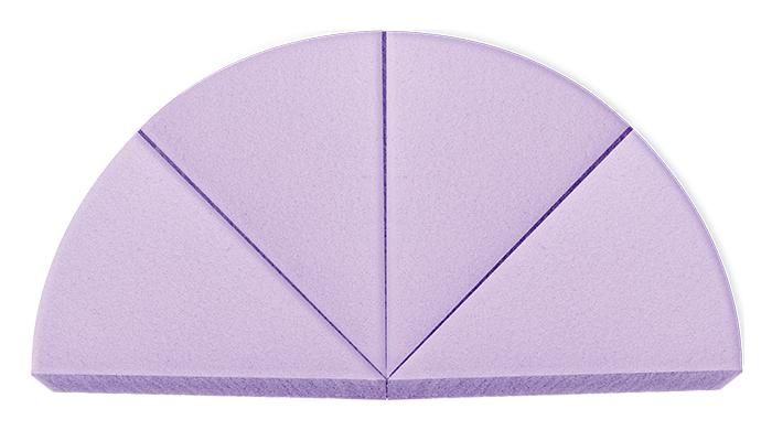Спонжи и аппликаторы Vivienne Sabo Набор треугольных спонжей для макияжа