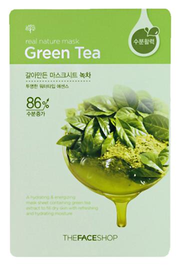 Купить Real Nature Green Tea Mask Sheet 23 г TFS-8806182525698