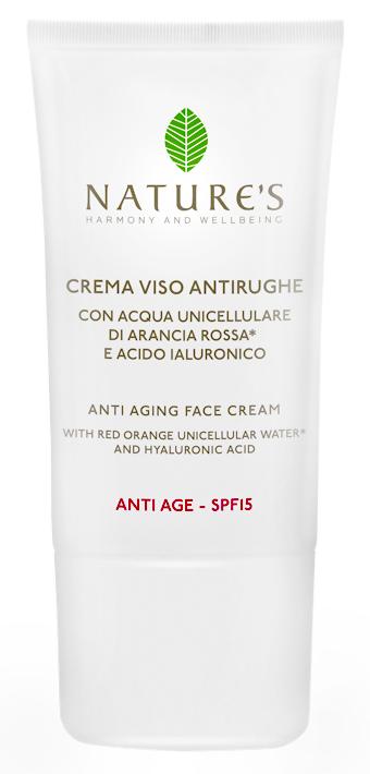 Антивозрастной уход Natures Крем для лица SPF15 Anti-Age Crema Viso Antirughe (Объем 15 мл)