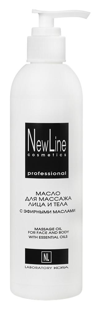 Масло New Line Cosmetics Масло для массажа лица и тела с эфирными маслами (Объем 300 мл)