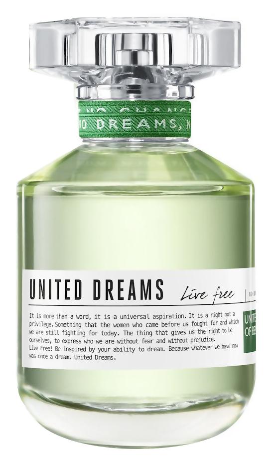 Туалетная вода United Colors of Benetton United Dreams Live Free (Объем 80 мл)