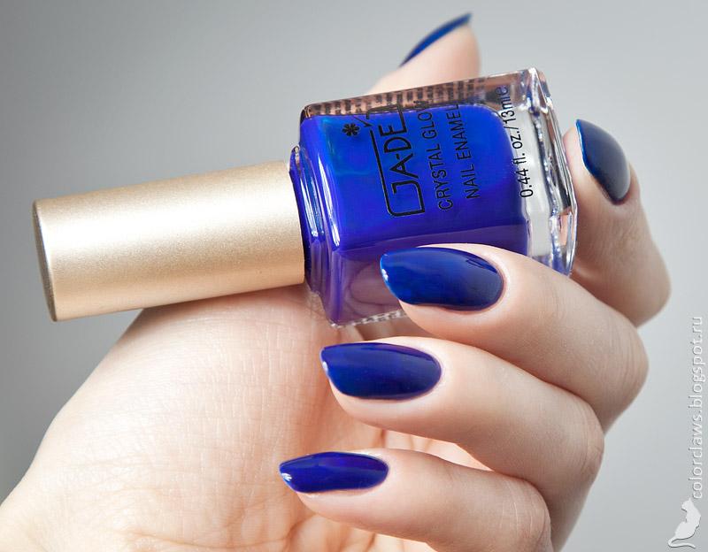 Лак для ногтей Ga-De Crystal Glow Nail Enamel 447 (Цвет 447 Sapphire Blue variant_hex_name 132797)
