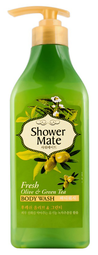 Гель для душа KeraSys Shower Mate Body Wash Fresh Olive  Green Tea (Объем 550 г)