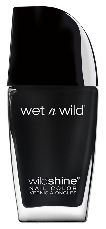 Лак для ногтей Wet n Wild Wild Shine Nail Color 485D (Цвет 485D Black Creme variant_hex_name 252525)