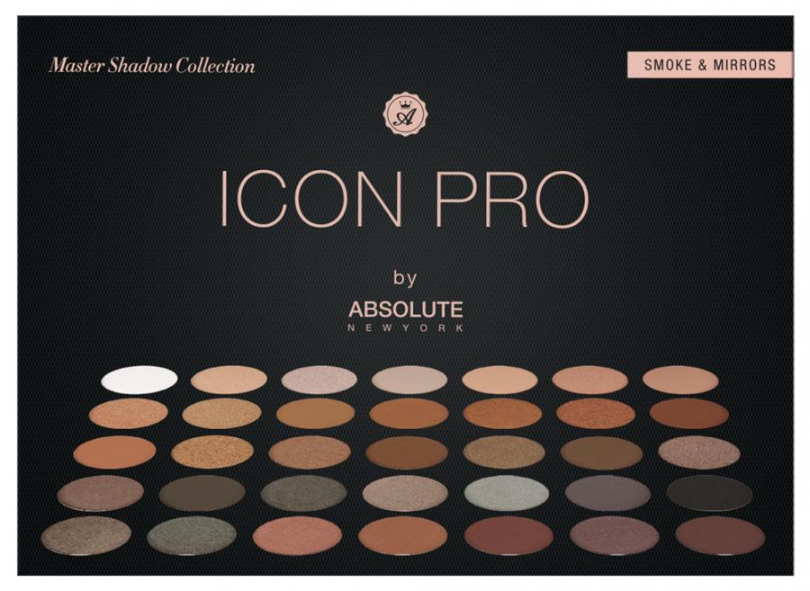 Для глаз Absolute New York Icon Pro Palette 02 (Цвет 02 Smoke  Mirror variant_hex_name 926246)