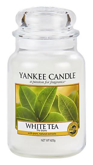 Ароматическая свеча Yankee Candle White Tea Medium Jar Candle (Объем 623 г)