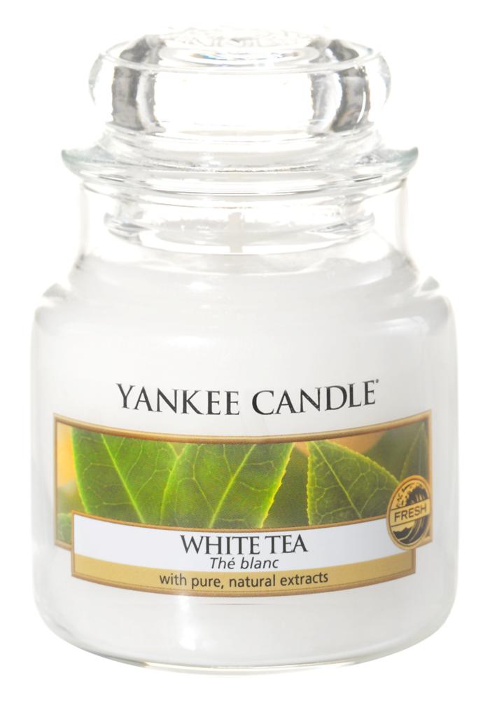 Ароматическая свеча Yankee Candle White Tea Small Jar Candle (Объем 104 г)