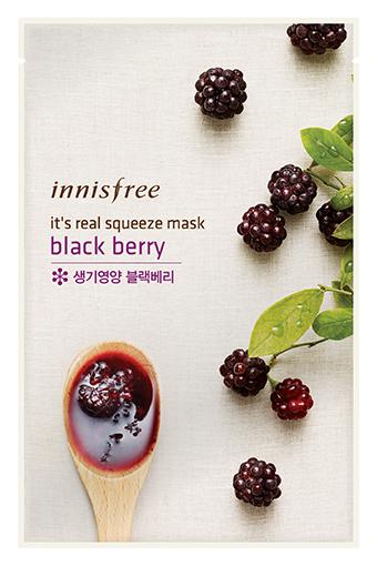 Тканевая маска InnisFree Its Real Squeeze Mask Blackberry (Объем 20 мл)
