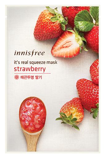 Тканевая маска InnisFree Its Real Squeeze Mask Strawberry (Объем 20 мл)