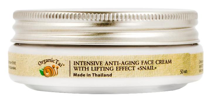Антивозрастной уход Organic Tai Интенсивный антивозрастной лифтинг-крем для лица с экстрактом улитки (Объем 50 мл)