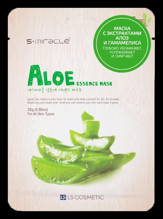 Тканевая маска S-Miracle Aloe Essence Mask (Объем 25 г)