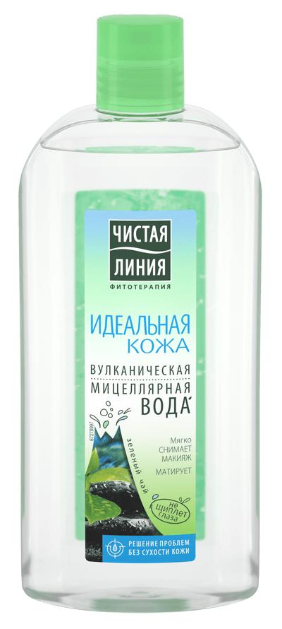 Мицеллярная вода Чистая Линия Вулканическая мицеллярная вода Идеальная кожа (Объем 400 мл)