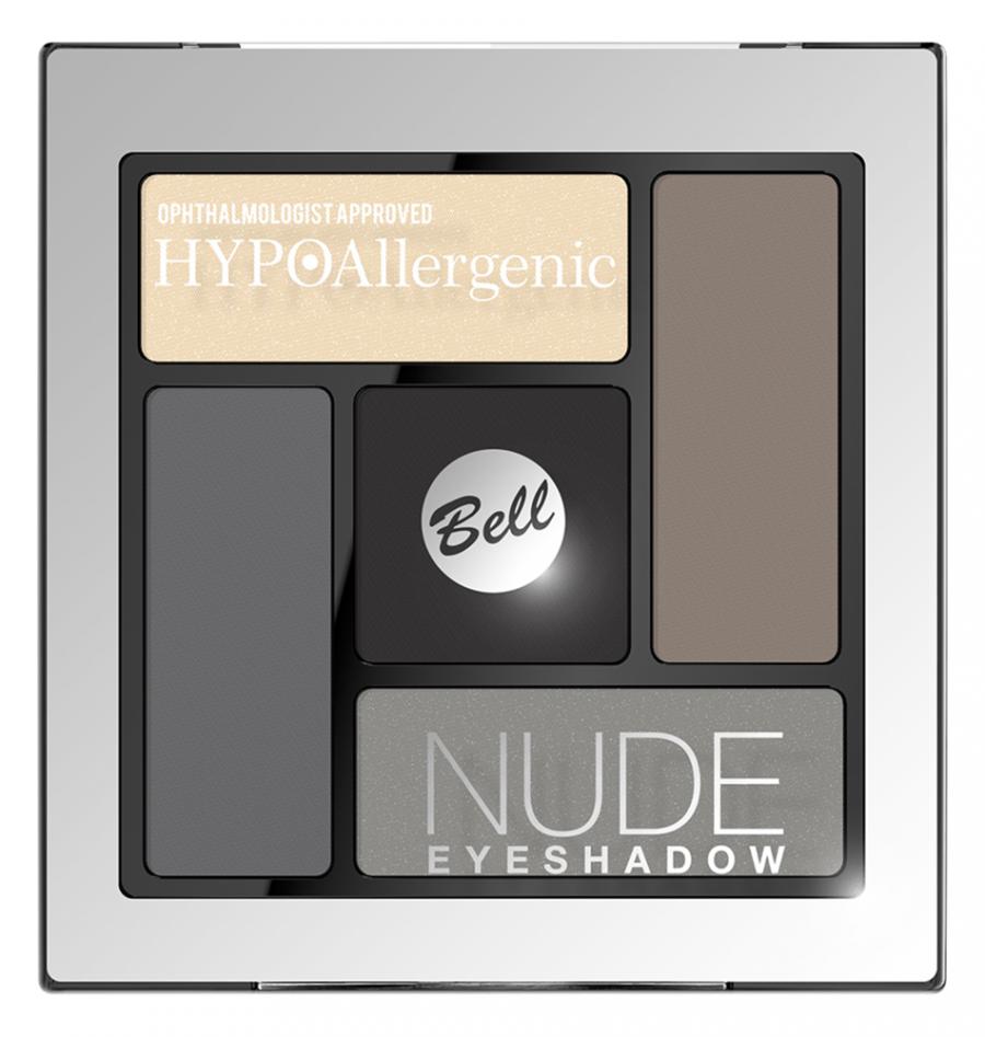 Для глаз Bell HYPOAllergenic Nude Eyeshadow 02 (Цвет 02 variant_hex_name 857C73)