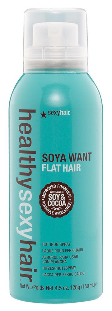 Термозащита Sexy Hair Спрей для горячей укладки Soya Want Flat Hair (Объем 150 мл)