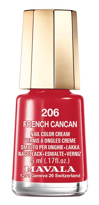Лак для ногтей Mavala Cabaret Colors Collection 206 (Цвет 206 French Cancan   variant_hex_name BB1430)