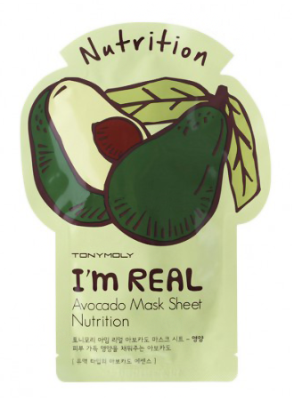Купить I'm Real Avocado Mask Sheet 21 мл TMO-SS05037900