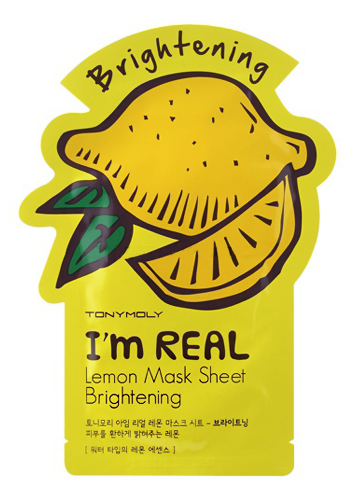 Тканевая маска Tony Moly Im Real Lemon Mask Sheet (Объем 21 мл)
