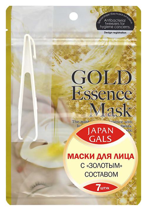 Тканевая маска Japan Gals Набор Gold Essence Mask 7 шт.
