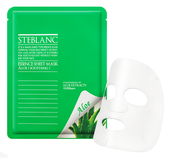Тканевая маска Steblanc by Mizon Успокаивающая маска Essence Sheet Mask. Aloe