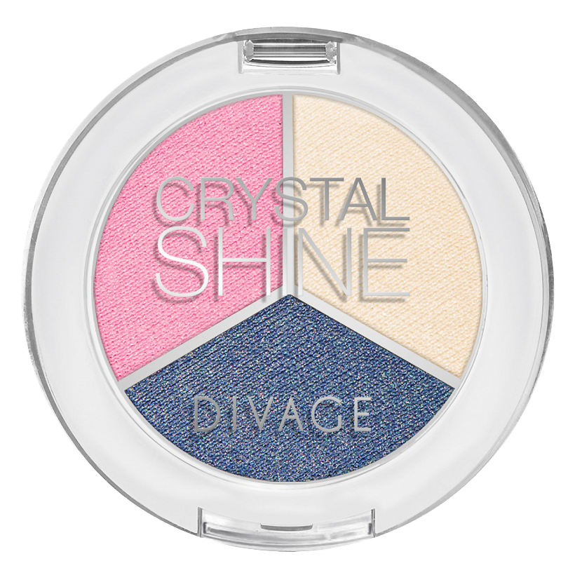 Тени для век Divage Crystal Shine 02 (Цвет 02 variant_hex_name 7F82A3)