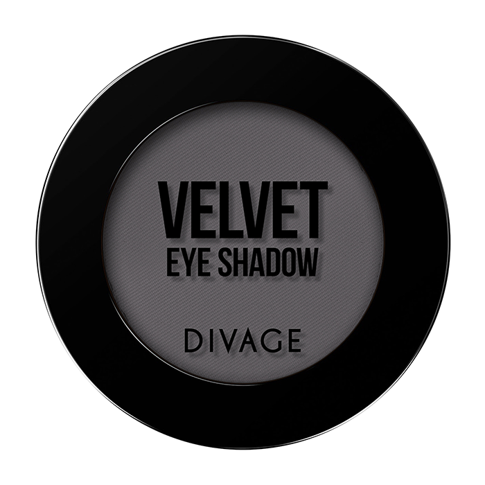Тени для век Divage Velvet 01 (Цвет 7301 variant_hex_name 666165)