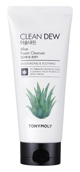 Пенка Tony Moly Clean Dew Aloe Foam Cleanser (Объем 180 мл)