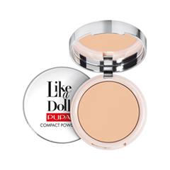 Пудра Pupa Like a Doll Compact Powder 03 (Цвет 03 Natural Biege variant_hex_name ECC19F Вес 50.00)
