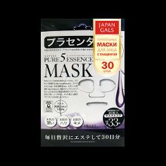 Тканевая маска Japan Gals Маска с плацентой Pure 5 Essential 30 шт.