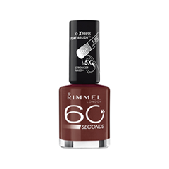 Лак для ногтей Rimmel 60 Seconds Re-Lanch 320 (Цвет 320 Rapid Ruby variant_hex_name 602B27)