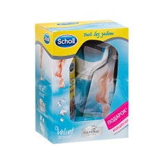 Инструменты Scholl Набор Электрическая пилка для кожи стоп + Увлажняющий крем
