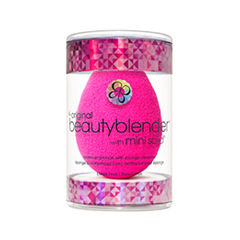 Спонжи и аппликаторы beautyblender Набор спонж beautyblender Original + Мыло для очистки Solid Mini (Цвет Original variant_hex_name FA1C91)
