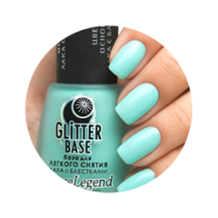 Базы Dance Legend Glitter Base Mint (Цвет Mint variant_hex_name 77DACF)