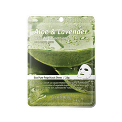 Тканевая маска ElishaCoy Aloe  Lavender Mask Sheet (Объем 23 г)