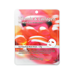 Тканевая маска ElishaCoy Vitamin & Collagen Mask Sheet (Объем 23 мл)